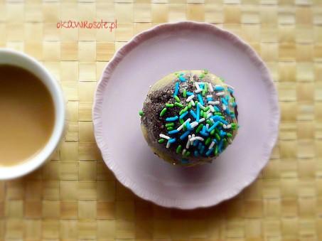 Muffiny z mąki orkiszowej z kakao