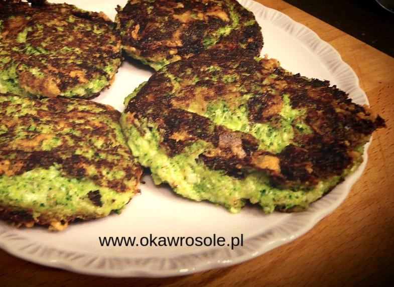 Placki serowo- brokułowe