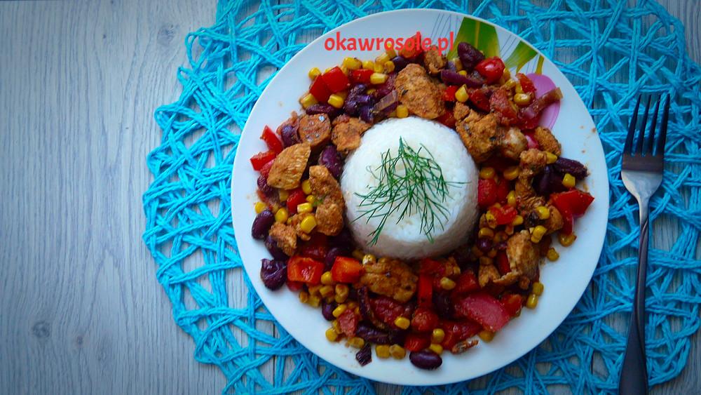 Kurczak po meksykańsku z ryżem