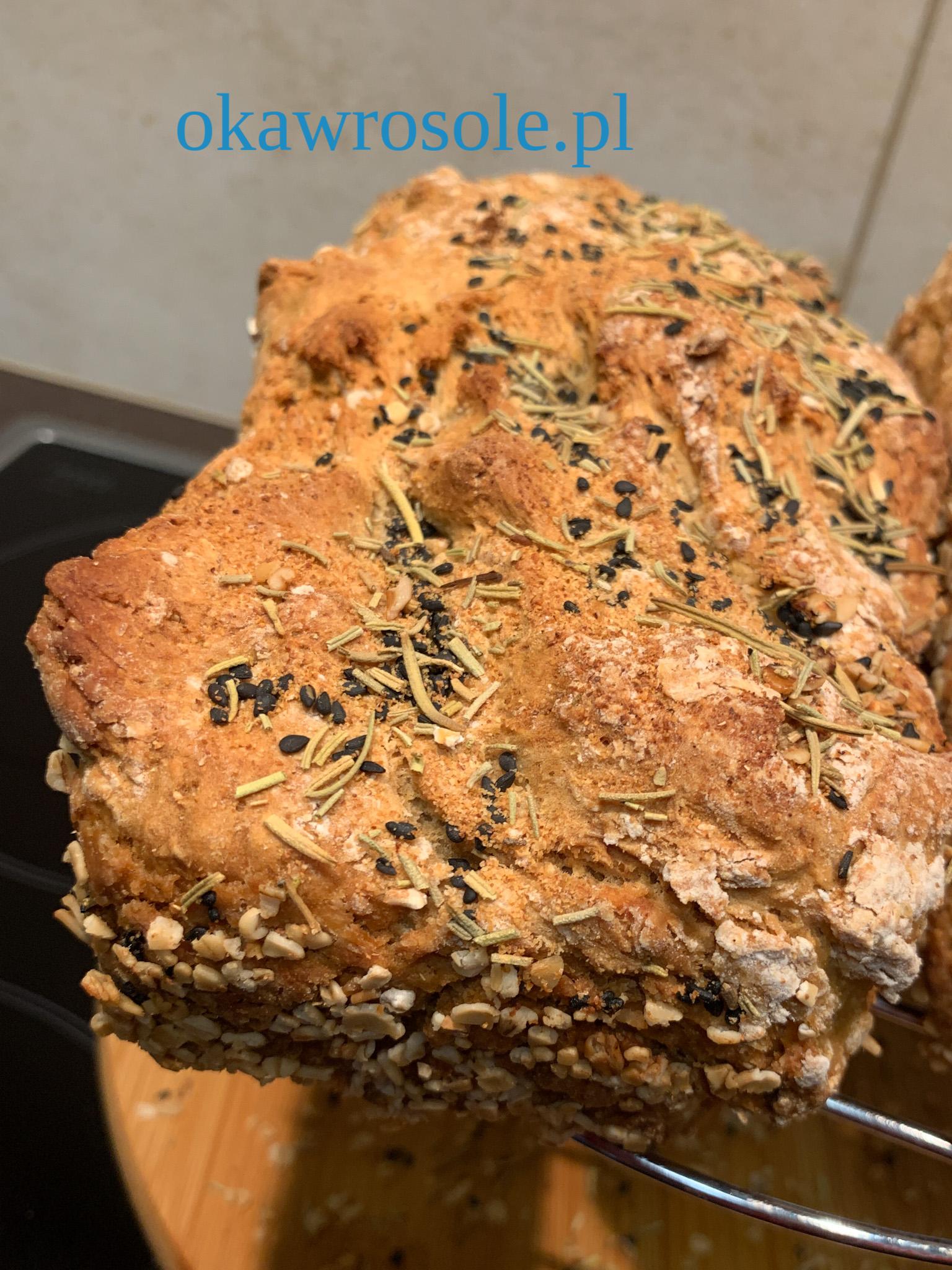 Prosty chleb bez czekania na proszku do pieczenia